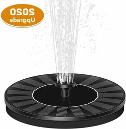 2.4W Solar Fountain Pump with Battery Backup Outdoor Floatin