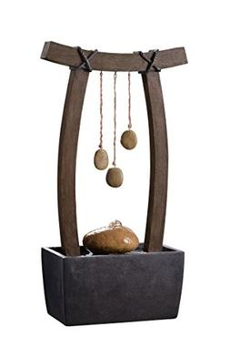 Kenroy Home 51047WDG Reflection Indoor Table Fountain, 21.5