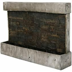 Ancient Styled Outdoor Rippled Waterfall Fountain, 24 Inch T