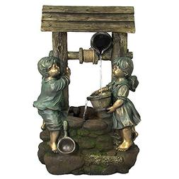 Children at the Well Outdoor Water Fountain with LED Light b