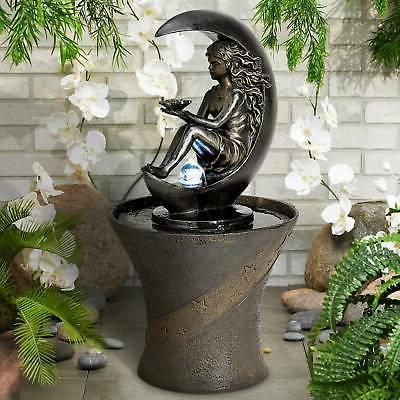"""Crescent Moon 34"""" High Fountain with LED Light"""