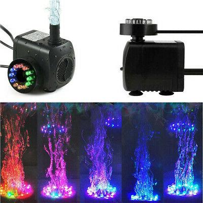 led light submersible water pump outdoor