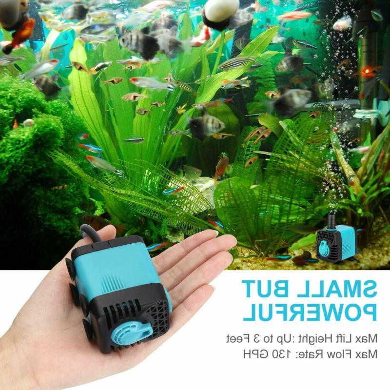 Submersible Pump with Colorful Light,Fountain