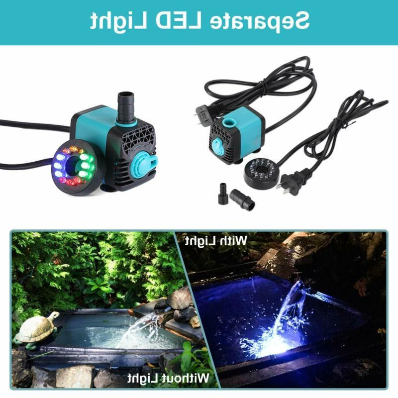 Submersible Pump-Ultra Water Pump with Colorful Light,Fountain