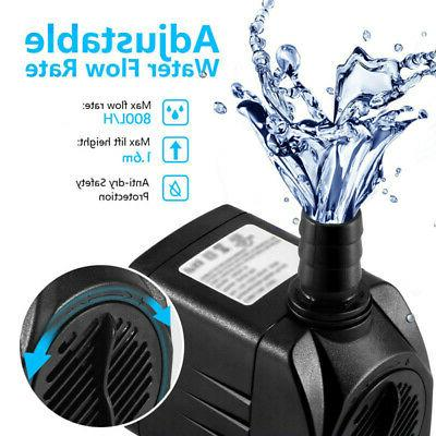 Submersible Water Pump With 12 Lights Outdoor Plug New