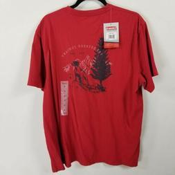 Coleman outdoor short sleeve graphic tshirt large woods red