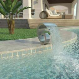 Pool Fountain Stainless Steel Silver Outdoor Ponds Water Fea