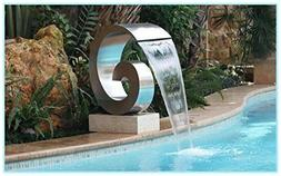 Stainless Steel Pool Fountain Inlet Sheer Curtain Swirl Outd