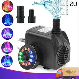 submersible water pump with 12 led lights