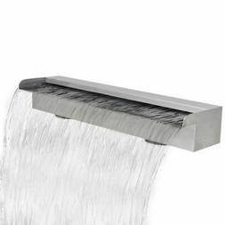 Waterfall Pool Fountain Stainless Steel Descent for Pool Pon